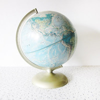 world globe / vintage Rand McNally world by RustBeltThreads