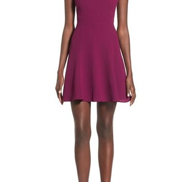 Leith Keyhole Fit & Flare Dress | Nordstrom