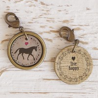 Horse  Junk  Market  Vintage  Hobby  Charm  From  Natural  Life