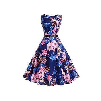 Retro Inspired Swing Dress, Sizes Small - 2XLarge