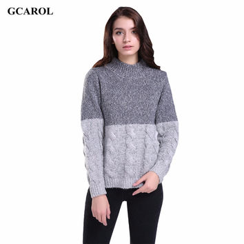 Women New Korean Twist knitting Sweater Contrast Color Design Crop Sweater Pullover Spring Autumn Winter Jumper