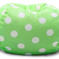 """Classic 88"""" Chartreuse W/White Dots Bean Bag"""