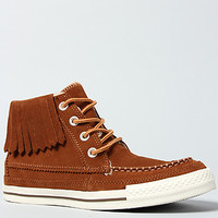 Converse The Chuck Taylor All Star Moccasin Fringe Boot in Monks Robe Suede