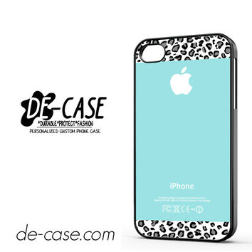 Tiffany Teal And Black Leopard DEAL-11236 Apple Phonecase Cover For Iphone 4 / Iphone 4S