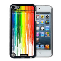 IPod 5 Touch Case Thinshell Case Protective IPod 5G Touch Case Shawnex Dripping Colors Crayon Art