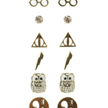 Harry Potter Earrings 6 Pair Set