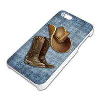 Cowboy Hat and Boots Country iPhone 5 5S Slim Fit Case
