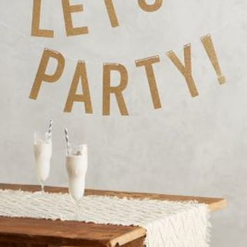 Alexis Mattox Design Let's Party Banner in Gold Size: One Size Gifts