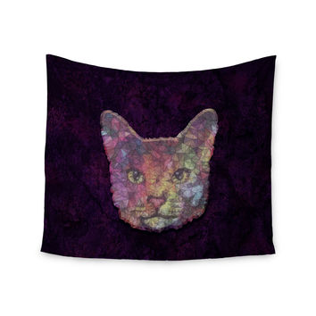 "Ancello ""Rainbow Cat"" Pastel Purple Wall Tapestry"
