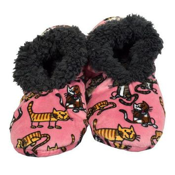 ICIKU3R Cat Nap Fuzzy Feet Womens Slippers