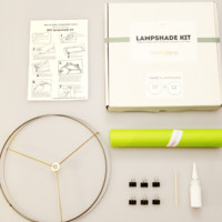 Custom-size DIY lampshade kit