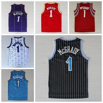 Best 1 Tracy McGrady Jersey Throwback Shirt Rev 30 New Material Tracy McGrady Uniforms Retro Team Road Black Blue White Red Purple Quality