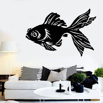 Vinyl Wall Decal Gold Chinese Fish Animal Aquarium Pet Stickers Unique Gift (1086ig)
