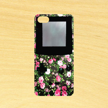 Floral Gameboy iPhone 4/4S 5/5C 6/6+ and Samsung Galaxy S3/S4/S5 Phone Case