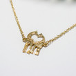 Dainty Giraffe Necklace - Silver or Gold
