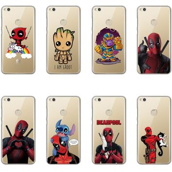 Deadpool and Stitch Suicide Squad Joker Harley Quinn Super Marvel Phone Case For Huawei P8Lite 2017 P9 P10 Lite P20 Plus P20 Pro
