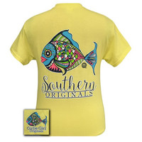 Girlie Girl Southern Originals Preppy Fish Corn Silk T-Shirt