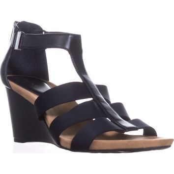 A35 Pearrl Gladiator Wedge Sandals, Deep Navy, 11 US