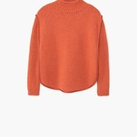 Textured panel sweater - Women | MANGO USA
