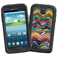 """Wavy Paint Swirls """"Protective Decal Skin"""" for LifeProof fre/nuud Samsung Galaxy S4 Case"""