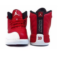 Nike Red/White-Black Suede Baby Boys Jordan 12 Retro BP Gym