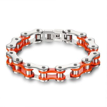Gift Hot Sale Stylish Awesome Shiny New Arrival Great Deal Titanium Men Chain Bicycle Bracelet [10783259587]