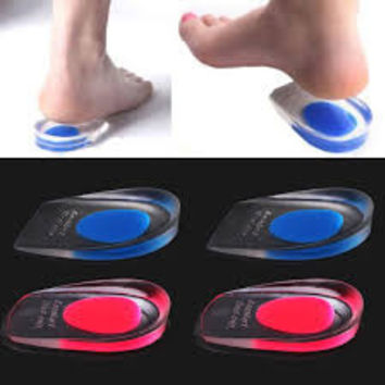 1Pair Women Massaging Soft Silicone Gel Insoles Feet Cushion Foot Massager Care