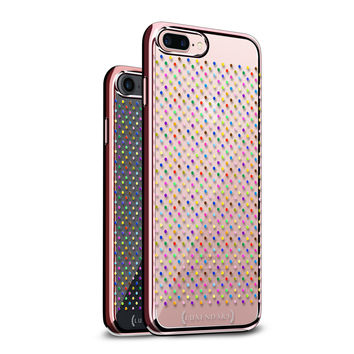 CONFETTI COLORFUL POLKA DOT DESIGN WITH CLEAR ROSE GOLD CASE FOR IPHONE 8/7