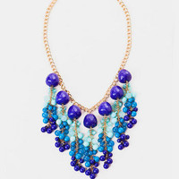 St. Maarten Fringe Necklace in Cobalt