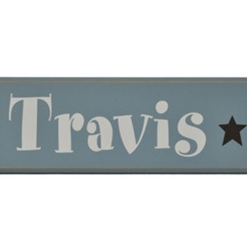 Boys Personalized Wood Name Plaque