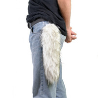 Faux fur Silver Fox Tail
