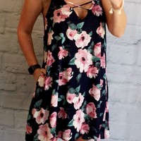 Swing for Fun Floral Pocket Dress