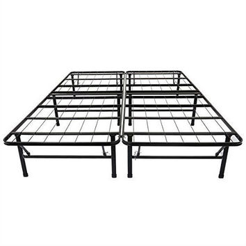 Queen size Black Metal Platform Bed Frame