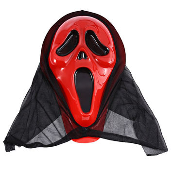 Bloody Face Screaming Skull Mask Crazy Halloween Christmas Decors Toys Fancy Ball Party Decoration Skull Mask with Bloody Face