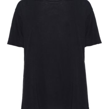 AMERICAN VINTAGE Juan Aldama Vintage Black Oversized cotton T-shirt - Tops