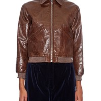 Point-collar leather bomber jacket | Hillier Bartley | MATCHESFASHION.COM US