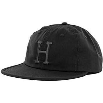 HUF Men's Formless Classic H 6 Panel Hat, Black, One Size