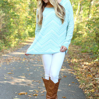 Way Too Wonderful Sweater - Blue
