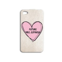 Super Cute Future Mrs Matt Espinosa iPhone 5s Case Cute iPhone 4 Case Pink iPod 5 Case Sweet iPod 4 Case Cool iPhone 4s Case iPhone 5c Case