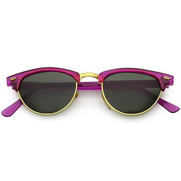 True Vintage Dead Stock Colorful Half Frame Sunglasses C573