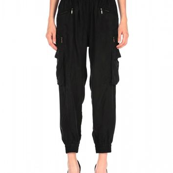 Blank NYC Faux Silk Trouser - Wilted Willow