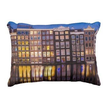 Traditional Dutch Architecture Pillow