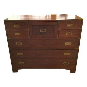 Pre-owned 19th Century Campaign Style Chest & Desk
