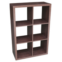 Recollections™ Craft Storage System 6 Cube Honeycomb, Espresso
