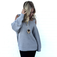Minor League Knit Sweater In Grey