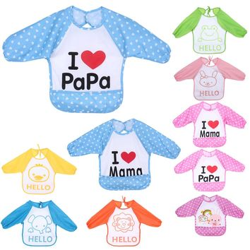 1 Pcs Baby Overclothes Inside Your Baby To Eat Clothes Dressing Down Waterproof Overalls Bibs & Burp Cloths