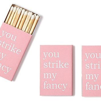 S/6 Strike my Fancy Matches, Pink
