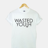 Wasted Youth Screenprint gildan G200l ultra cotton t shirt for woman