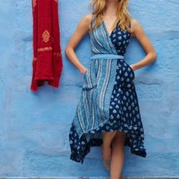 Eclipsed Wrap Dress by Maeve Blue Motif