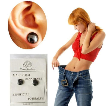 Healthy Stimulating Acupoints Stud Earring Bio magnetic therapy weight loss earrings magnet in ear eyesight slimming SM6